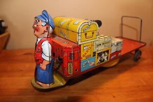 Vintage Tin Baggage Cart Toy London Ontario image 6