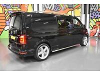 VW TRANSPORTER T6 T32 LWB 2.0TDI 204PS DSG HIGHLINE KOMBI LV SPORTLINE PK BLACK