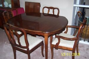 7 Piece Apartment Size Dining Room Suite Quality by Malcolm Furn