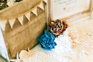 Wedding - Rustic Vintage Favours Box with Bunting