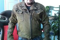 Harley Davidson Distressed Suede Jacket