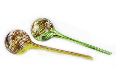 Aqua Globes Plant Watering Glass Bulbs - Stylish Plant Watering Kit 2 Pack
