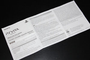 PS VITA-MEMORY CARD-MANUAL ONLY (COMPLETE YOUR GAME)
