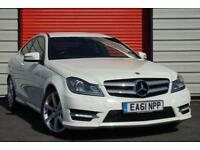 2011 61 MERCEDES-BENZ C CLASS 1.8 C180 BLUEEFFICIENCY AMG SPORT EDITION 125 2D A