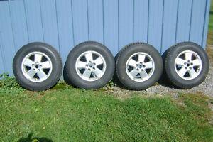 16 Inch Aluminum Rims and Tires Peterborough Peterborough Area image 1