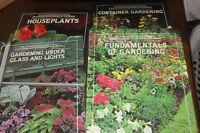 Set of 4 Gardening Books