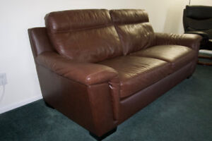 Brown Leather Sofa- Excellent condition.