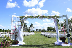 Shabby Chic archway used for wedding