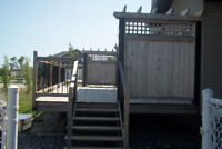 RE-FINISHING/STAINING DECKS, RAILIINGS, ARCHITECTURAL STRUCTURES
