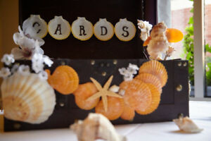 MODERN WEDDING DÉCOR – ACCESSORIES- RECEPTION  (Rustic/Beach)