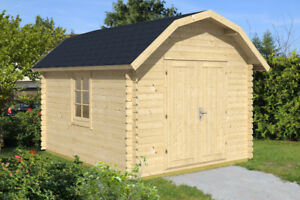 Shed, log building kit, DIY