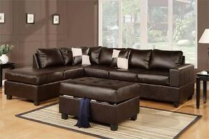 MOVING SALE @ Real Buy furniture Brand NEW  Sectional W/ Free Ottoman $799