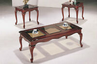 Queen Anne Coffee Table and Two End Tables Set
