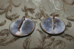 Pair of Old Antique Victorian Horse Bridle Buttons/Rosettes - He London Ontario image 2