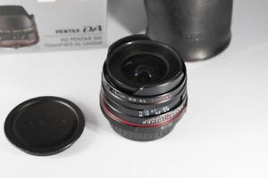 Pentax SMC HD DA 15 mm f4 ED MINT Condition