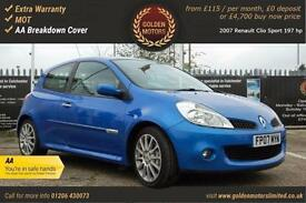 Renault Clio Sport 197 hp PETROL MANUAL 2007/07
