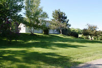 Beautiful Home on 2.69 acres, double garage, view