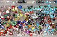 Beads-glass, crystal, coral and mix