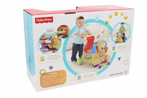 Fisher-Price Laugh & Learn Stride-to-Ride Puppy, English