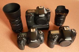 Canon 60D, 40D et 7D