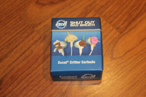 RARE New In Box Excel Limited Edition  Ear Buds Critter EarBuds