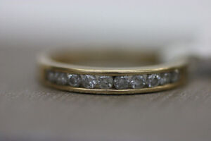 **PERFECT** 14k Yellow Gold 10 Diamond Ring Sz 7 (#1281)