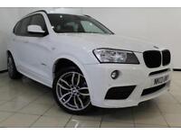2013 13 BMW X3 2.0 XDRIVE20D M SPORT 5DR AUTOMATIC 181 BHP DIESEL
