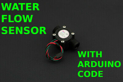 Digital Water Flow Sensor For Arduino 12 18 With Software Code