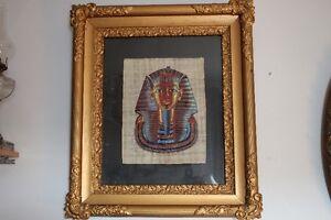 Cadre-encadrement antique victorien avec peinture Egyptienne