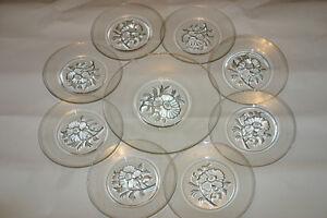 Vintage Clear Pressed Glass  Plate 9 piece Setting. Oakville / Halton Region Toronto (GTA) image 1