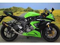 Kawasaki ZX6R **Akrapovic Exhaust, R&G Bobbins, Datatag Protection**
