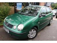 2002 Volkswagen Polo 1.4 S 75BHP Green 5 Door Service History Cambelt Changed