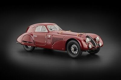Broken 1938 ALFA ROMEO 8C 2900 B SPECIALE TOURING COUPE 1/18 BY CMC 107
