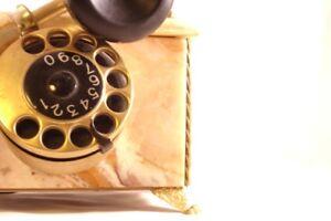 telephone vintage en marbre