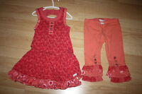 Naartjie Size 5 Twirly Swirl Dress Coral Red
