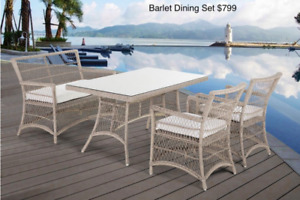 Outdoor Aluminum Poly Wood Dining Sets End of Season Sale