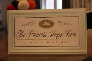 Wall Art Plaque (perfect for little girl room /nursery)