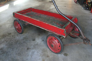 VINTAGE 1930S VINTAGE CHILDS WOOD WAGON