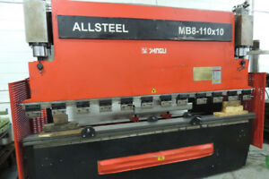 Allsteel Press brake 10ft X 100 tonne. Machine Solutions Inc