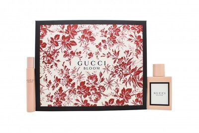GUCCI BLOOM GIFT SET 50ML EDP +7.4ML EDP - WOMEN'S FOR HER. NEW. FREE SHIPPING