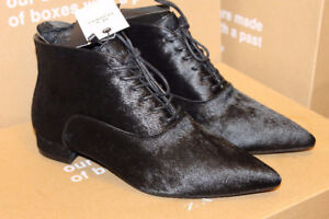 New Zara Leather Boots 100% Cow Furskin Size 5, 6, 6.5, 7.5