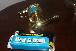 New Brass Door Knob Lock Set