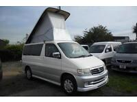 MAZDA BONGO LIFTING TOP 1999, 2.5, V6 PETROL, 83,200 MILES IN WHITE/SILVER