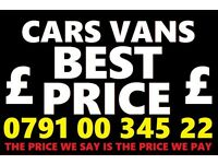 📞 079100 34522 ☎️ WANTED CAR VAN 4x4 SELL MY BUY YOUR SCRAP FOR CASH Bmw
