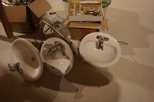 Brand new Bathroom sinks with Moen Faucets
