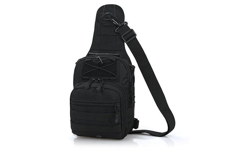 Outdoor Shoulder Military Tactical Backpack Travel Camping  Hiking Trekking Bag Black