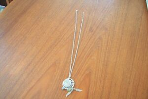 "1928 SILVER PENDANT NECKLACE FIRST NATION 12"" LONG"