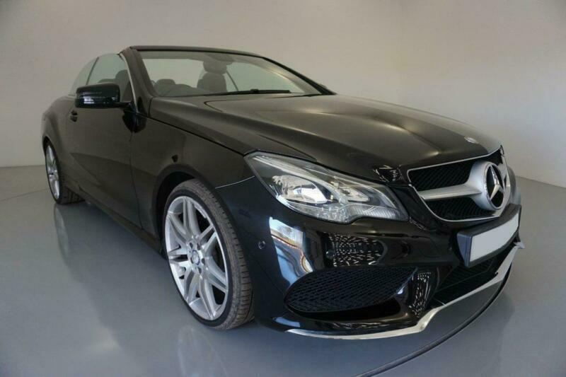 2013 BLACK MERCEDES E220 2.1 CDI AMG LINE 2DR CONVERTIBLE CAR FINANCE FR £225PCM