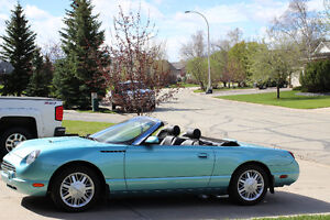 2002 FORD THUNDERBIRD CONVERTIBLE FOR SALE LOW KM