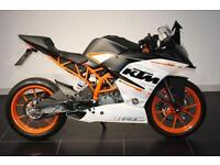 2016 16 KTM RC 390, WHITE, ALMOST NEW!